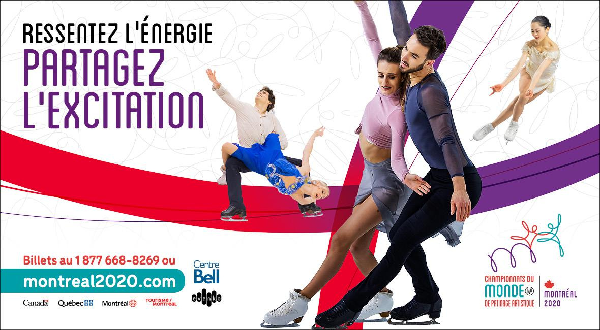ISU World Figure Skating Championships® from March 16 to 22, 2020